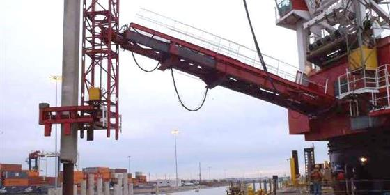 Construction Container Wharf Expansion