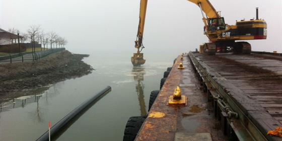 Construction Hackensack River Shallow Water Capping